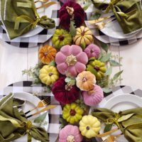 A Colorful Fall Table Setting.