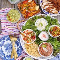 DIY Fajita Salad Board.