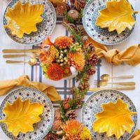 Fall Harvest Thanksgiving Tablescape.
