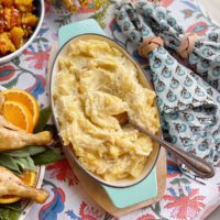 Potato Leek Mashed Potatoes.