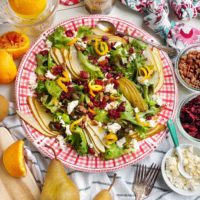 Holiday Salad with Orange Balsamic Dressing.