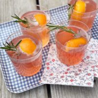 Spiced Blood Orange and Rosemary Cocktails.