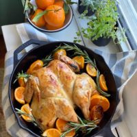 Simple Skillet Roasted Chicken.