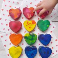 DIY Recycled Heart Crayons.