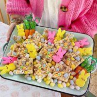Mini Egg Easter Rice Krispy Treats.