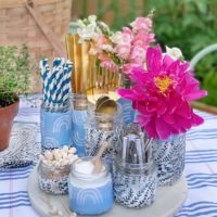 DIY Outdoor Entertaining Tray with Pastene.