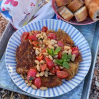 Chicken with White Beans, Tomatoes and Herbs.